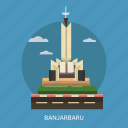 banjarbaru, building, city, indonesian, monument, travel icon
