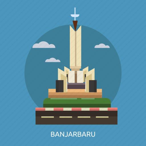 banjarbaru, building, city, indonesian, monument, travel icon