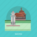 banten, building, city, indonesian, monument, travel icon