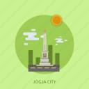 building, city, indonesian, jogja city, monument, travel icon
