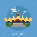 building, city, indonesian, lampung city, monument, travel icon