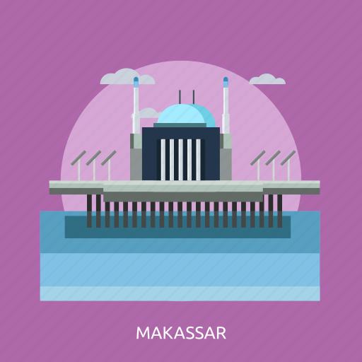 building, city, indonesian, makassar, monument, travel icon