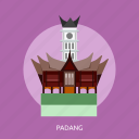 building, city, indonesian, monument, padang, travel icon