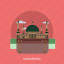 building, city, indonesian, monument, samarinda, travel icon