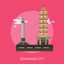 building, city, indonesian, monument, semarang city, travel icon