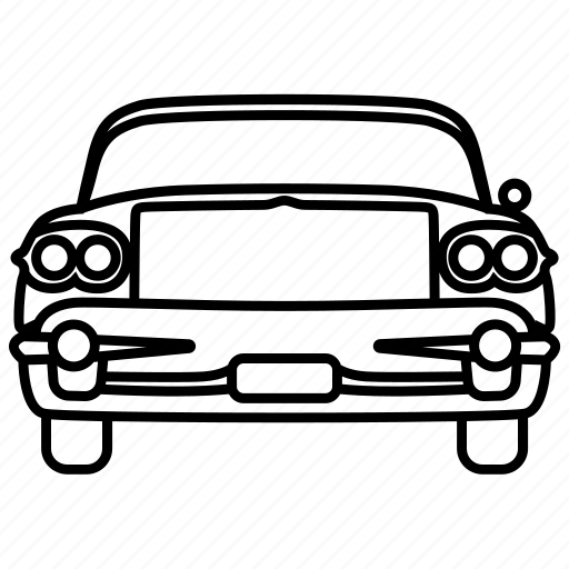 automobile, car, classic, eight, retro, vintage icon