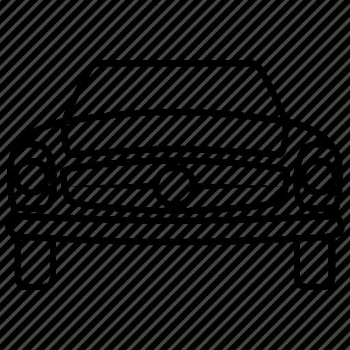 automobile, car, classic, mercedes, retro, seven, vintage icon