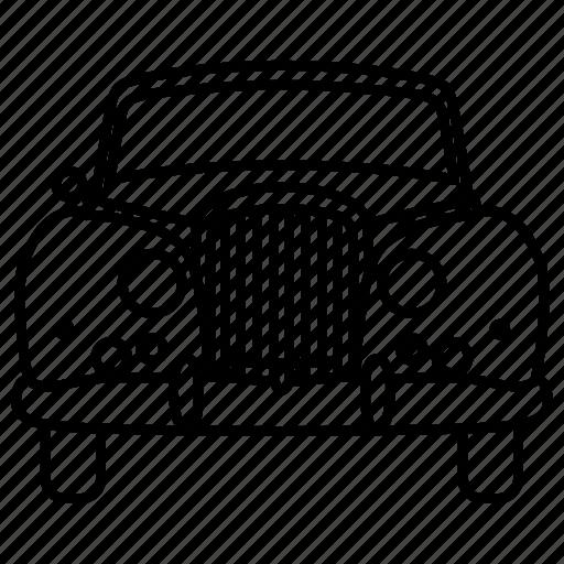 automobile, car, classic, retro, three, vintage icon