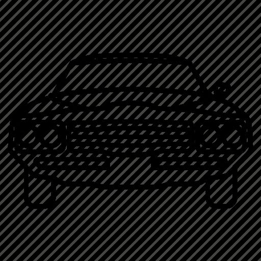 automobile, car, classic, muscle, retro, vintage icon