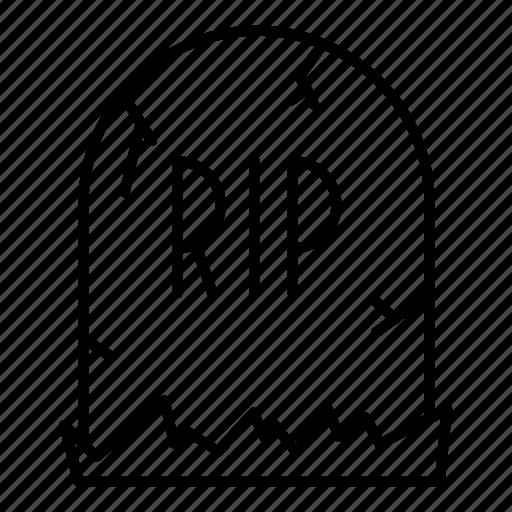 dead, grave, graveyard, halloween, tomb, tombstone icon