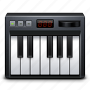 audio, keyboard, keys, midi, music, sound icon