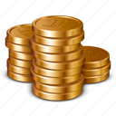 business, cash, coins, currency, dollar, finance, money icon