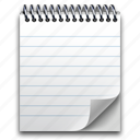 document, note, notebook, notepad, pad, paper, scratchpad icon