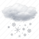 cloud, cloudy, snow, weather icon