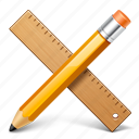 ruller, application, pencil, write, edit, applications