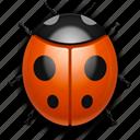 bug, insect, ladybug, report icon