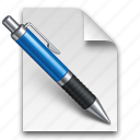 document, documents, edit, file, page, paper, pen, write icon