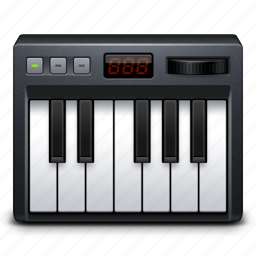 audio, keyboard, keys, midi, music, sound icon