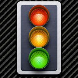 light, semaphore, traffic, traffic light, transport, transportation icon
