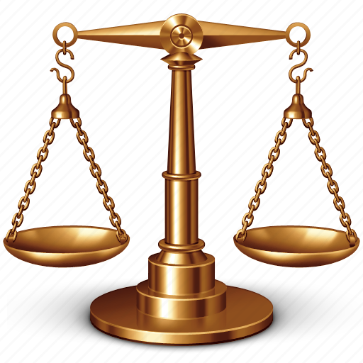 balance, justice, scale, scales, weight, weighter icon
