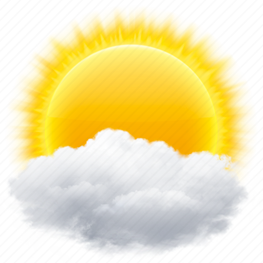 cloud, clouds, cloudy, rain, sun, weather icon