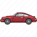 cars, classic, filled, outline, retro, side view, vintage icon