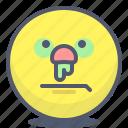 cold, emoji, emotion, face, smile