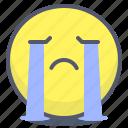 cry, emoji, emotion, face, smile