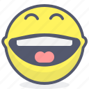 emoji, emotion, face, fulllaugh, smile