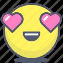 emoji, emotion, face, hearts, smile