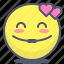 emoji, emotion, face, inloved, smile