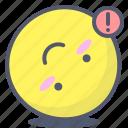 emoji, emotion, face, inverted, smile