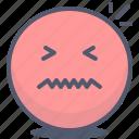 emoji, emotion, face, nervous, smile