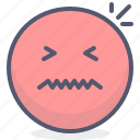 emoji, emotion, face, nervous, smile icon