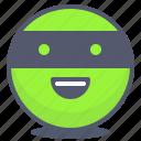 emoji, emotion, face, ninja, smile