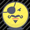 emoji, emotion, face, pirate, smile