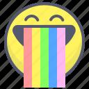 emoji, emotion, face, rainbow, smile
