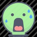 emoji, emotion, face, shocked, smile