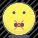emoji, emotion, face, silenced, smile