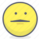 emoji, emotion, face, smile, straight
