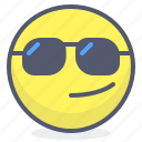 emoji, emotion, face, smile, sunglasses