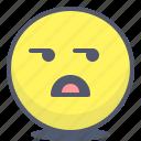 emoji, emotion, face, smile, wondering