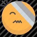 emoji, emotion, face, injuried, smile