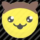 emoji, emotion, face, mascot, smile icon