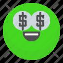 emoji, emotion, face, millionaire, smile