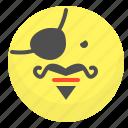 emoji, emotion, face, pirate, smile icon