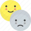 emoji, emotion, face, happy, sad, smile