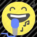 emoji, emotion, face, sing, smile
