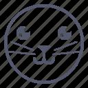 cat, emoji, emotion, face, smile icon