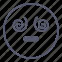 emoji, emotion, face, hypnotised, smile icon